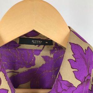 Etro Floral Button Down Blouse